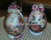 Uova di pasqua decorative con rose 3d vari tipi