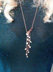 Collana cascata di perle