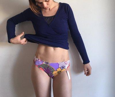 Brasiliana taglio laser  TAGLIA UNICA bikini fantasia mare estatr donna costume da bagno