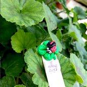 Bomboniera segnaposto seganlibro con coccinella