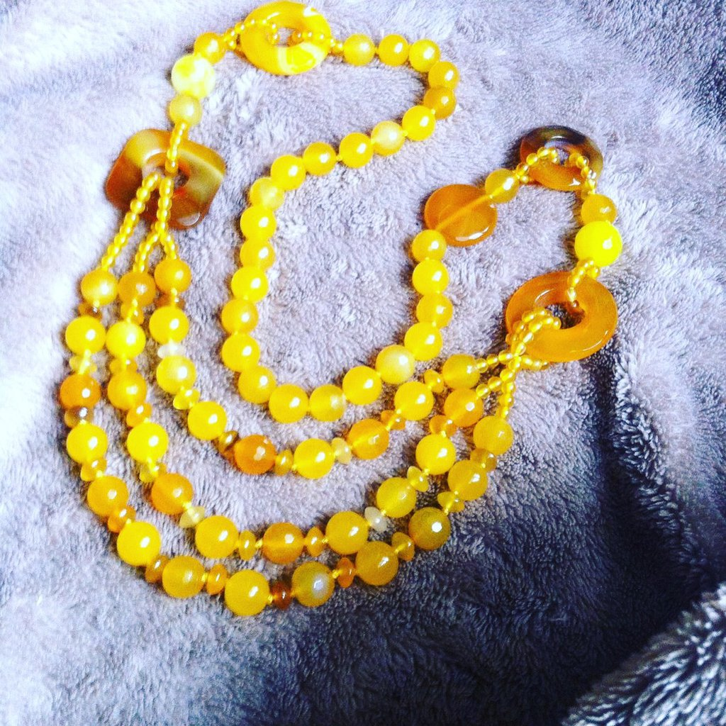 Collana agata gialla
