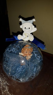 Palla decorata bomboniera