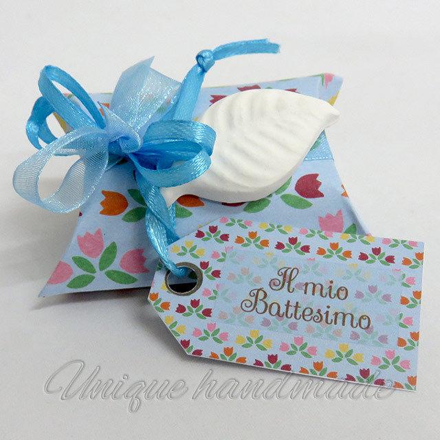Bomboniera Battesimo con foglia