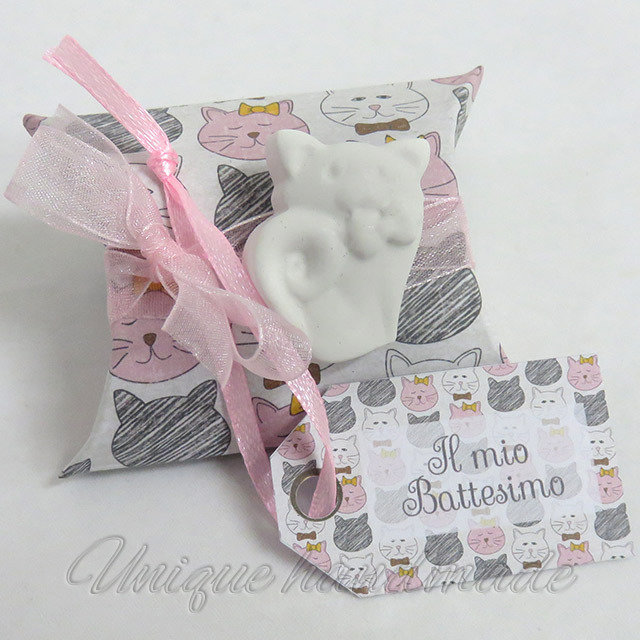 Bomboniera Battesimo con gattino