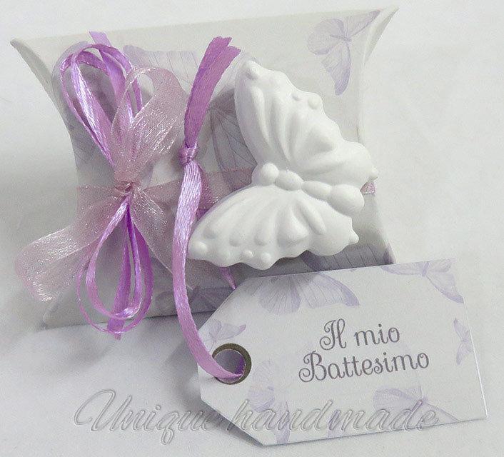 Bomboniera Battesimo con farfalla