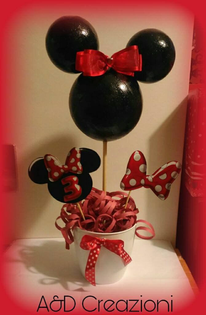 minnie mouse centrotavola compleanno