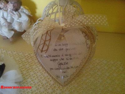 Cuore plexiglass segnaposto matrimonio