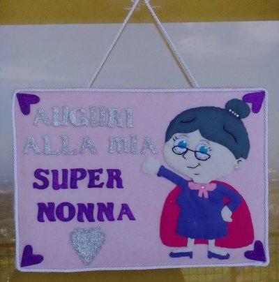Targa AUGURI NONNA SUPER