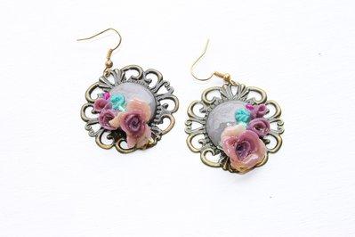 Orecchini filigrana rose