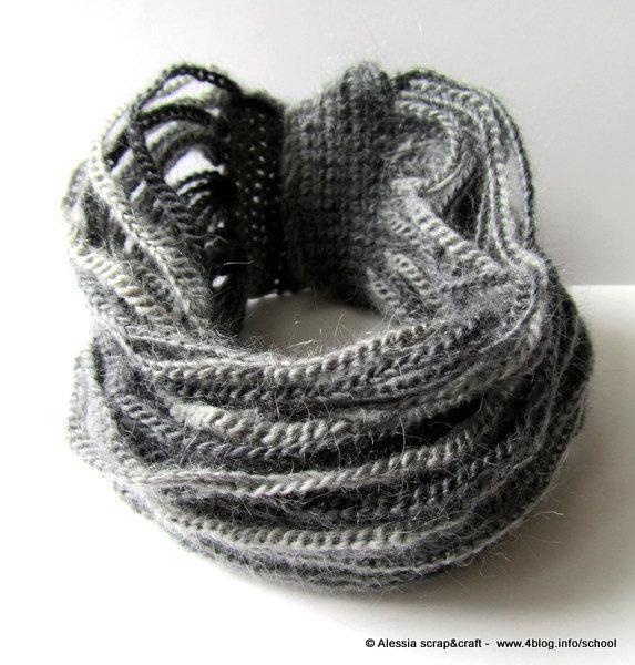 Pattern - spiegazione per collier scaldacollo a crochet uncinetto .