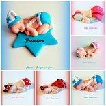 Bomboniere in fimo handmade neonato per nascita battesimo idea regalo nascita