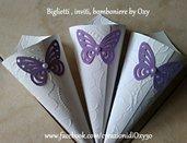 Coni riso / matrimonio / elegante / farfalla / lilla