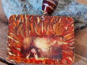 Ciondolo linea Celtic Elf folletto rosso