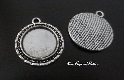 NOVITA'! Base cabochon color argento (31x27x2mmmm) (cod.50396C)