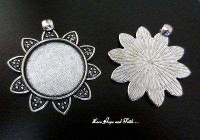 NOVITA'! Base cabochon color argento (43x29x2mm) (cod.50222C)