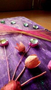 Quadro Appendi Chiavi String Art Materico