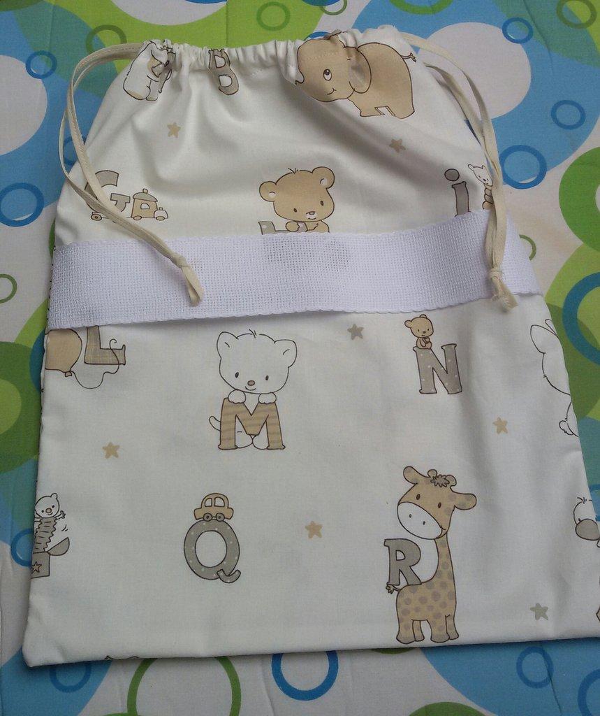 Sacca nascita unisex bimbo idea regalo ricamabile