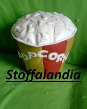 CUSCINO SECCHIELLO POPCORN IDEA REGALO