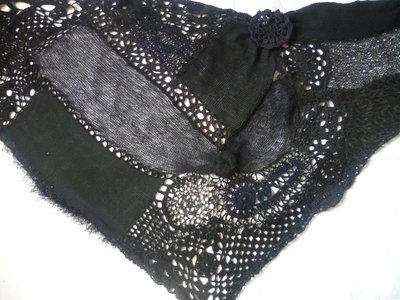 Inserzione speciale per Giomax,scialle nero,pezzo unico