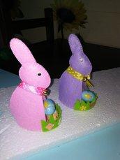 Coniglietti pasquali feltro