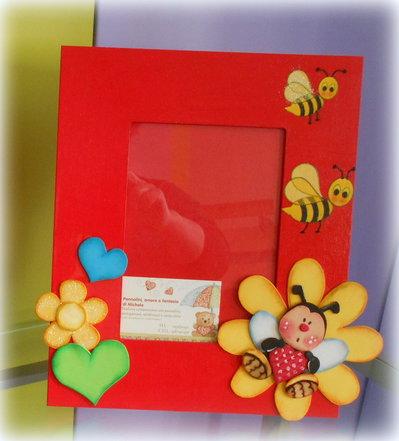 Cornici portafoto per bambini dipinte in acrilico e for Cornici portafoto