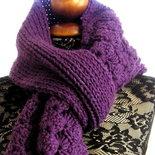 Pattern Spiegazione per Viola - grande sciarpa uncinetto crochet + maglia knit senza cuciture (file PDF)