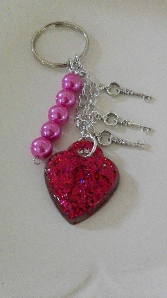 Porta chiavi lucchetto-cuore