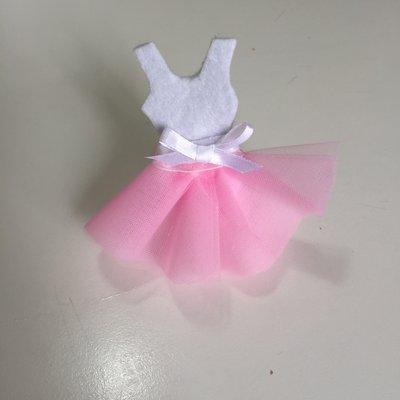 bomboniera ballerina con sacchetto confetti