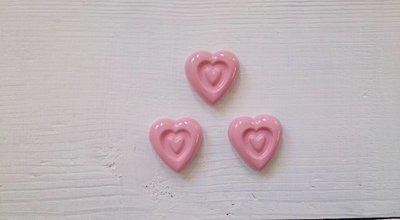 cuori rosa bimba segnaposto bomboniera
