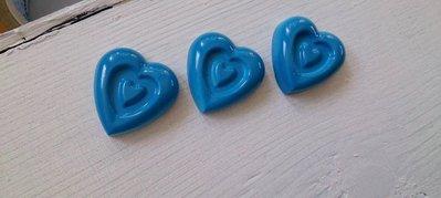 gessetto cuore azzurro laccato