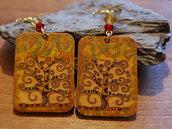 Orecchini linea Celtic Elf albero della vita Klimt
