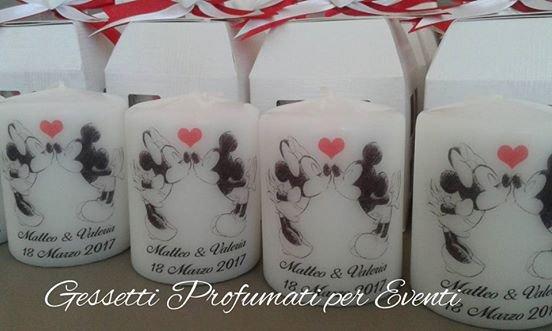 Bomboniera matrimonio candela personalizzata