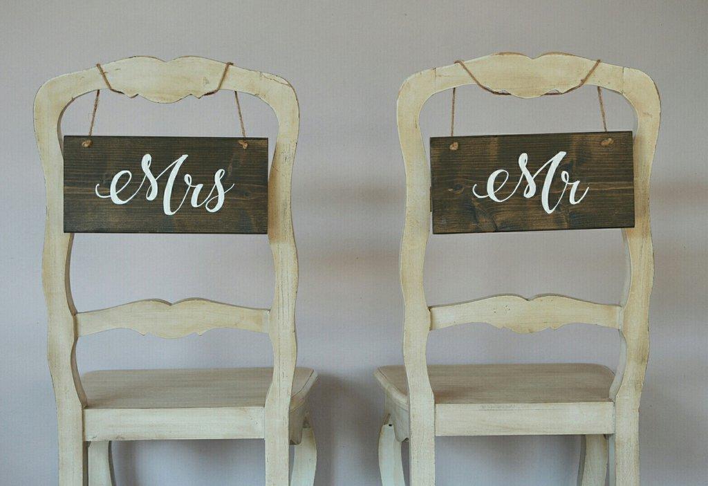 coppia di targhe in legno