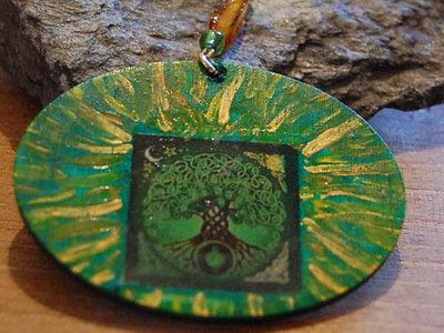 Ciondolo linea Celtic Elf albero della vita verde