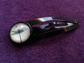 *Fermaglio per capelli con libellule - Hair clip with dragonfly cabochon*