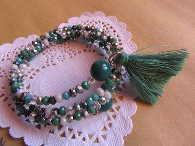 Bracciale verde filo armonico