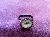 *Anello con cabochon di libellule - Dragonfly ring*