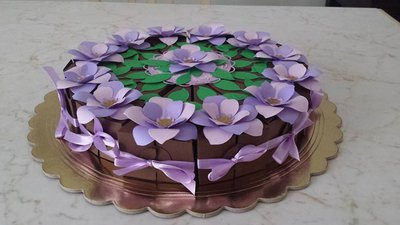 torta bomboniera fiorita