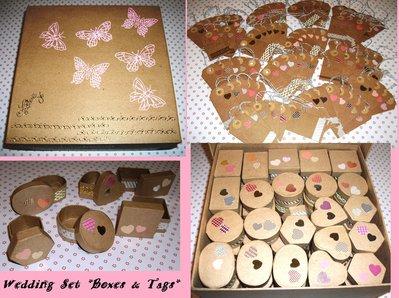 *Wedding Kit2* - Mega Set per Matrimonio - Scatoline Segnaposto+Wedding Box+Tag Chiudipacco per Bomboniere