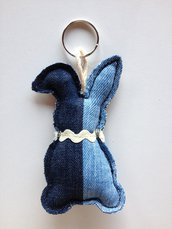 Portachiavi 🐰 coniglietto in jeans