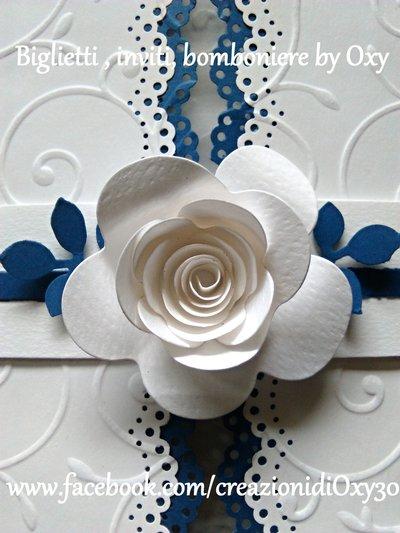Matrimonio In Rosa E Bianco : Partecipazione matrimonio rosa blu e bianco feste