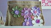 Pochette, Trousse, Sacca portatutto con fiori