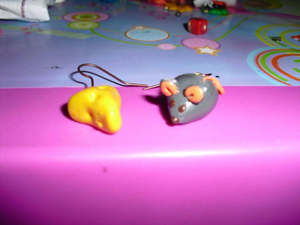 orecchini topino e formaggio