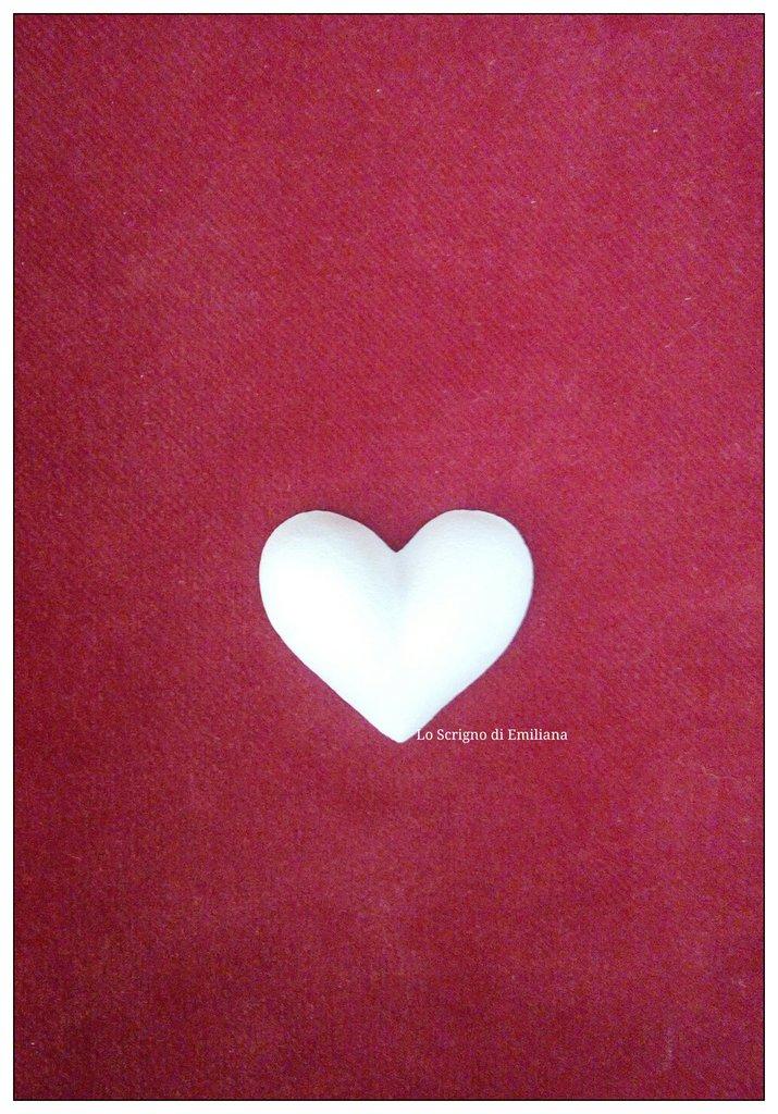 Gessetti profumati cuore per realizzare bomboniere/segnaposto