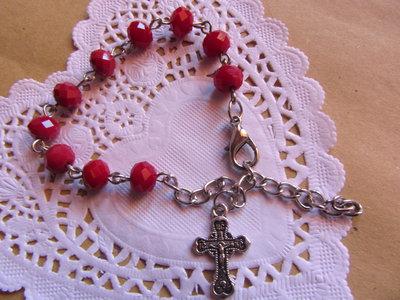 Bracciale cristallo rosario