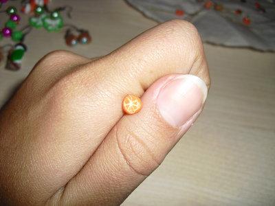 orecchini a perno fettine di arancia