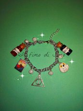 bracciale tema harry potter in pasta polimerica
