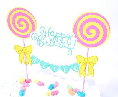 Cake topper Lecca lecca lollipop