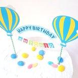 Cake topper Buon Compleanno Mongolfiera
