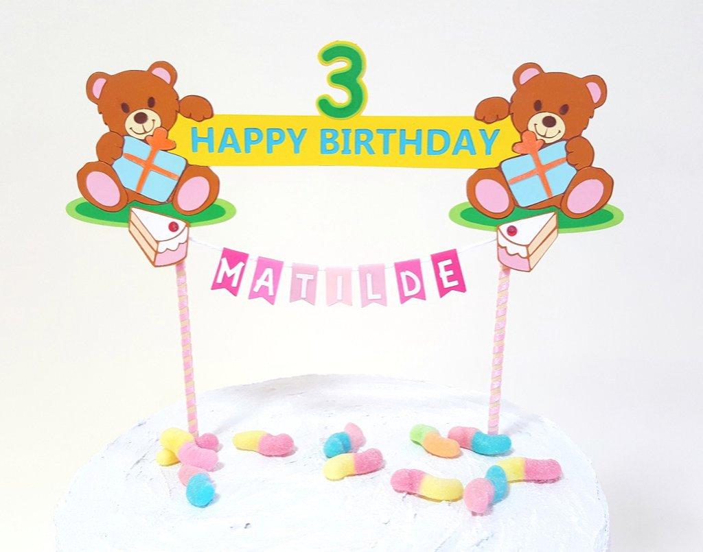 Cake topper Buon Compleanno Orsetti